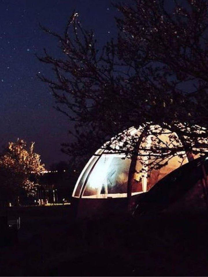 Dome transparent canopée du mont
